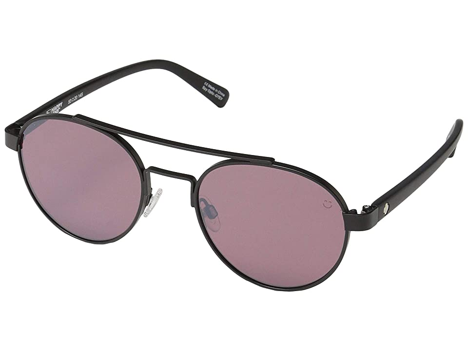 Spy Optic Deco (Matte Black/Happy Rose/Light Silver Spectra Mirror) Sport Sunglasses
