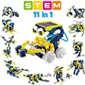 VEPOWER 11-in-1 STEM Science Solar Robot Kit for Kids, DIY Educational Learning Science Experiment Kit Toys for Boys and Girls Aged 8-14 Years