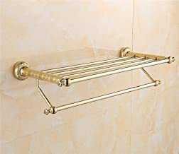 MBYW moderne minimalistische hoge dragende handdoek rek badkamer handdoekenrek Rose goud gesneden handdoek rek handdoeken/...