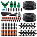 DricRoda Flower Watering System, 66ft Drip Irrigation Kits DIY Saving Water Automatic Irrigation Equipment Set, 0.25 inches Blank Distribution Tubing Hose for Garden Greenhouse Flower Bed Patio