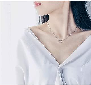 New Korean Fashion Pretty Zircon Ring Pendant Wild Necklace Jewelry