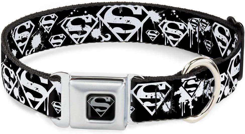 Buckle-Down Seatbelt Buckle Max 88% OFF Dog Purchase Collar - Shield Superman Splatte