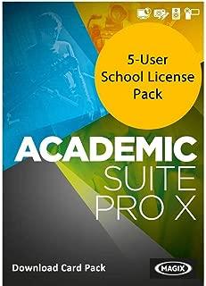 MAGIX Academic Suite Pro X for Windows 5-User School License [Download Card]