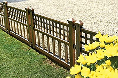 Gablemere Greenhurst Pack of Four Plastic Fence Panels in Bronze from Gablemere