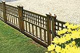 Gablemere Greenhurst Lot de 4 Panneaux de clôture Bronze