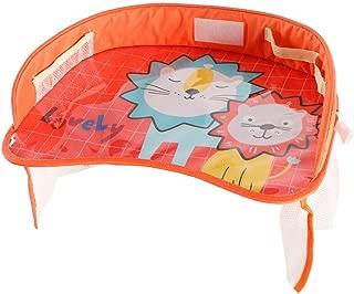 LH Car Kids Stroller Holder Portable Table Food Desk Waterproof Seat Tray Storage Kids Toy Table,B