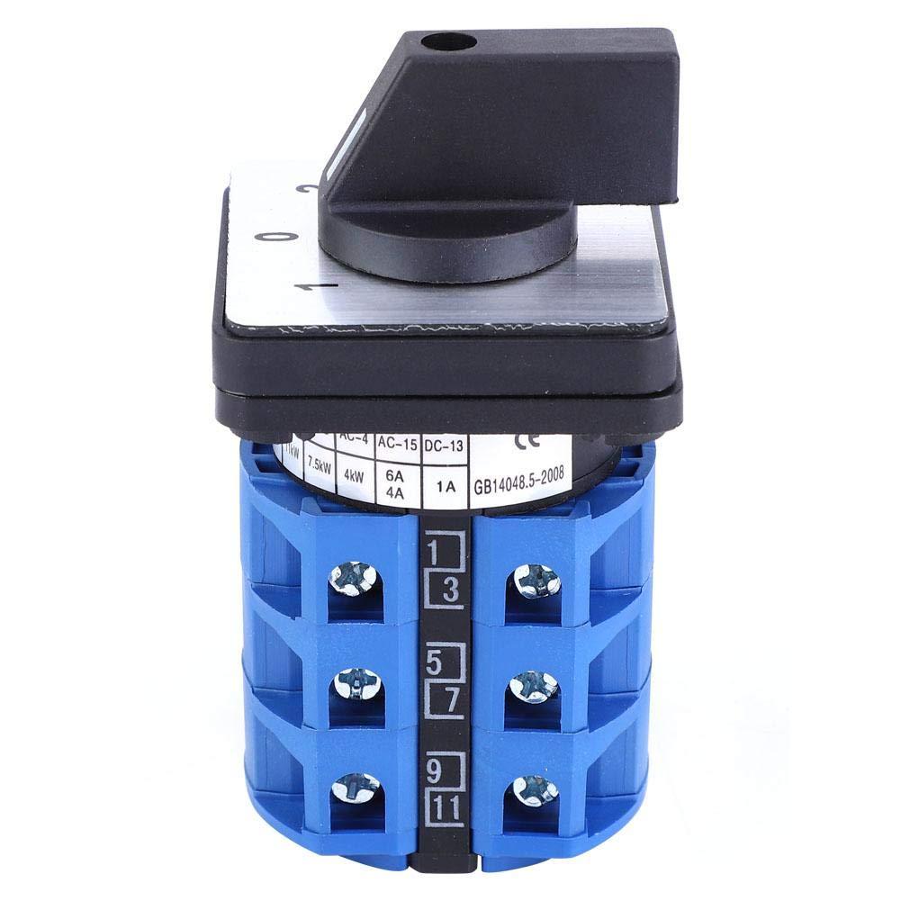 Interruptor de Cambio Universal BERM BEM28-25/3 Interruptor Rotativo Selector D303 690V 25A Interruptor Rotativo de 3 Posiciones Leva