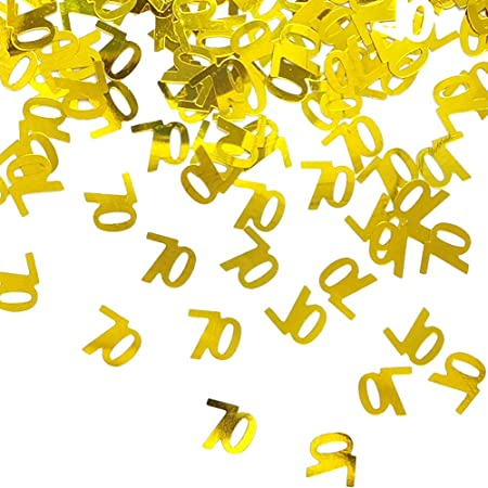Any Age 60 pcs. Party Decorations Age Confetti Glitter Confetti 70th Birthday Table Scatter