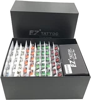 EZTAT2 100Pcs EZ Revolution Tattoo Cartridge Needles Assorted with 2 Aluminum Grips 2 Needle Bars Complete Kit
