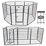 Easipet Heavy Duty 8 Panel Whelping/Playpen Run, Metal Folding Cage (Large)