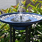 TekHome Solar Water Fountain, Bird Bath, Solar Water Features for The Garden, Floating Solar Fountain, Solar Panel Water Pump for Pond/Pool, Solar Powered Water Feature, Garden Decorations Outdoor.