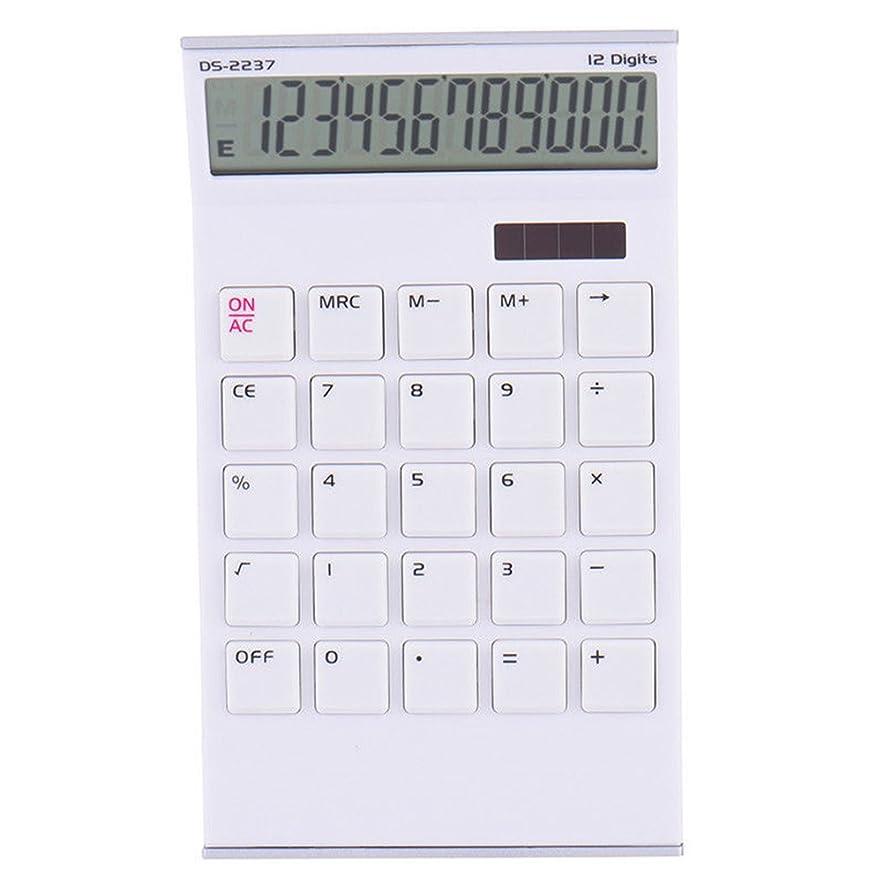特に乗算指紋Preliked Concise 12桁電卓 大きなボタン付き デスクトップ ホーム オフィス 学校用ツール