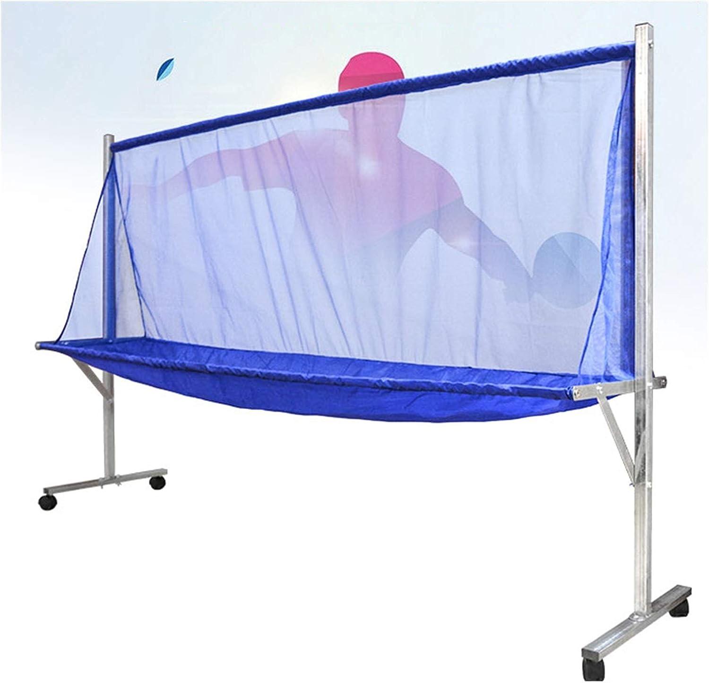 XJJUN Ping Pong Ball Collector, Redes De Recolección, Redes De Reciclaje De Máquinas De tee, Rejillas Multibola con Redes, Ruedas Universales Móviles (Color : Blue, Size : 210x50x142cm)