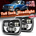 Jiuguang Pair 4x6 inch led headlight CREE LED Headlight DOT Approved High Beam DRL Fits H4651 H4652 H4656 H4666 H6545 Sealed Beam Headlight