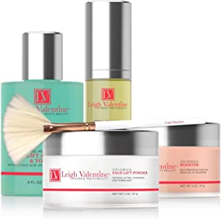 Leigh Valentine Skin Care - Premium All in One Skin Care Non-Surgical Face lift Kit - Includes Beauty Application Brush