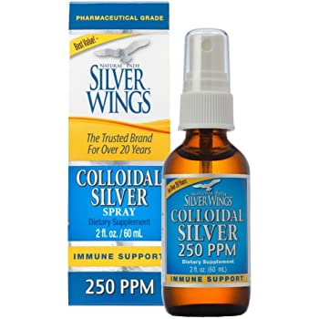 Natural Path Silver Wings Colloidal Silver 250PPM, 2oz Spray TOP (CS1S)