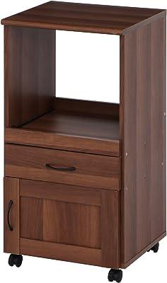 不二貿易 キッチンカウンター サージュ 幅45cm キャスター付き ブラウン 97343