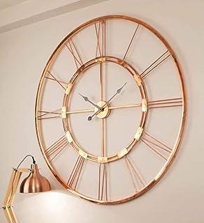 Mahakali Art and Crafts India Copper Wall Clock Decorative Wall Clock Metal Large Wall Decor Clock Wall Clock Art Décor an...
