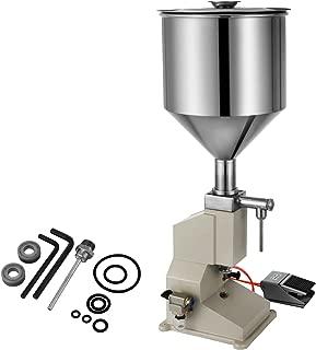 Happybuy A02 Liquid Filling Machine 5-50ml Bottle Filler Pneumatic Liquid and Paste Filling Machine for Cream Shampoo Cosmetic