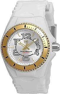 Technomarine Women's Cruise Jellyfish Stainless Steel Swiss-Quartz Watch with Silicone Strap, White, 22 (Model: TM-115129)