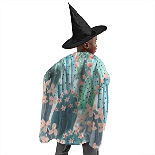 YUIOP Deluxe Halloween Children Costume Laptop Tumblr 12 Wizard Witch Cloak Cape Robe and Hat Set