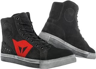 Dainese Street Biker D-WP Shoes (44) (Dark Carbon/RED)