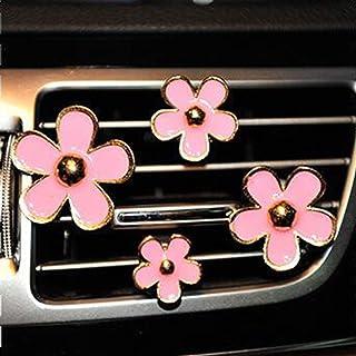 CYG&CL 4 Pack Daisy Flowers Air Vent Decorations Cute Automotive Interior Trim Car Accessories Air Freshener Clips (Light ...