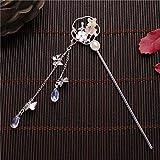 DAWEIF Chinese Style Retro Tassel Hair Stick Traditional Hanfu Hair Chopsticks Flower Pendant Women Bridal Headdress Hair Fork(B)