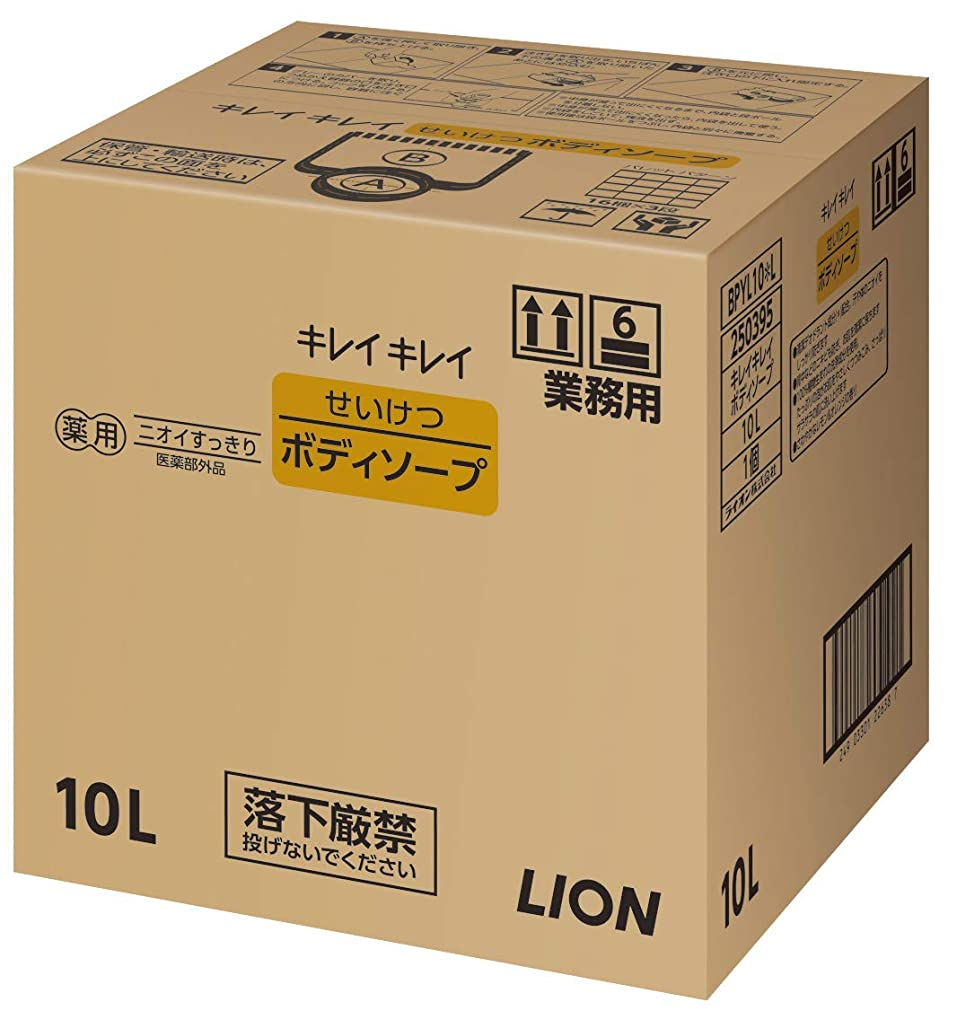 ストラップチャップ静けさキレイキレイ せいけつボディソープ さわやかなレモン&オレンジの香り 業務用 10L