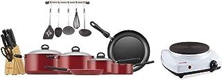 Prestige 22 Pc Cooking Pot Set + Prestige Single Hot Plate