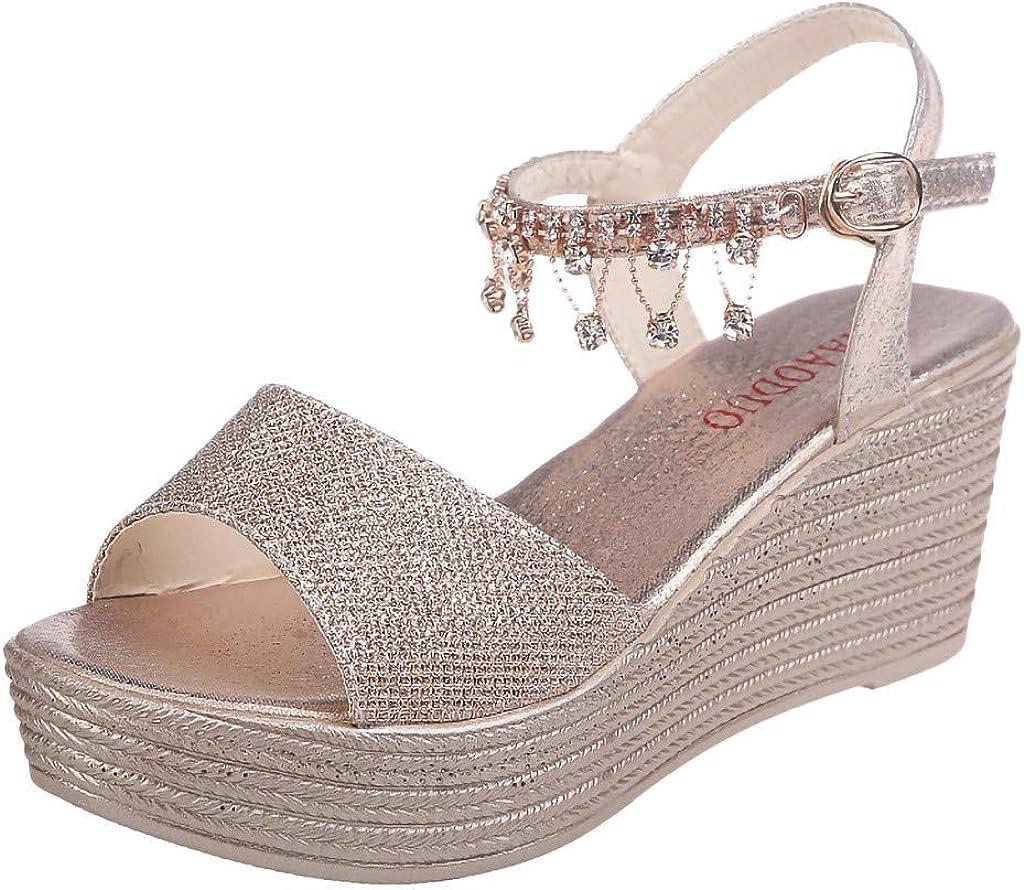 Details about  /Women Ladies Fashion Glitter Open Toe Ankle Strap High Heel Sandals Shoes AIEA