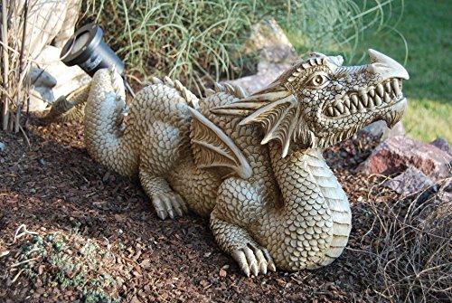 Drache / Chinesicher Drache! Edel! Sandsteinfarben! Sehr groß! Garten! Figur! Fantasy! Dekoration!