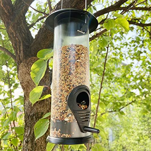 Comedero para Pájaros Patio de jardín colgando colgando aves silvestres alimentador de aves de alimento envase al aire libre herramienta de alimentación automática exterior de la decoración de la deco