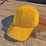 mlpnko Pana Gorra de béisbol doblada Visera Gorra Femenina Salvaje Casual Compras Sombrero cálido Amarillo Ajustable