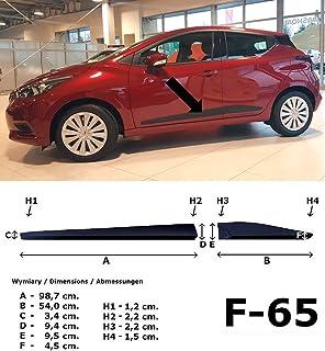 Listelli di Protezione Laterali per Suzuki Vitara SUV Typ LY Anno di Costruzione 02.2015 F40 Colore: Nero Spangenberg 370004005