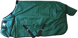Horse Turnout Blanket Rug Waterproof Ripstop 1200 Denier Heavy Weight 400g Fill Green