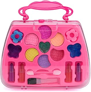Start_wuvi Princess Girl's Pretend Play Toy Deluxe Non Toxic Makeup Palette Set Training Kids Imagination Eye-Hand Coordin...
