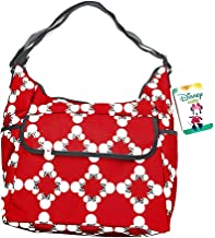 Polyester Diaper Tote Bags Disney Minnie Mouse Classic Carryall Red And White Diaper Bag 13.5 X 11 X 7.5 Inches Red
