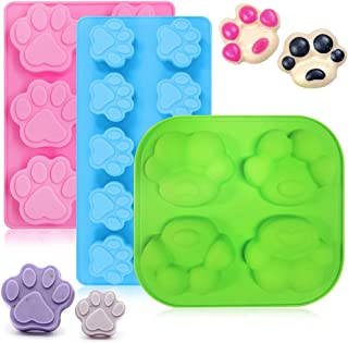 3 -pack valp hund silikon form, FineGood tass tryck silikon bakformar frusen hund behandla mögel tårta bakplåtar choklad f...