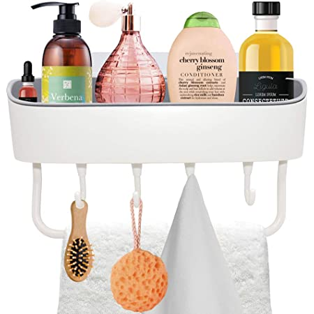 Self-adhesive Kitchen Storage Rack Organizer Bathroom Shower Holder Shelf Basket