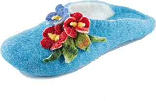 Gewenst Glamour Indoor House Slippers for Women Girls Kids Handmade Woven by Hand 100% Wool