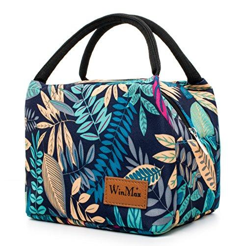 winmax Sac Isotherme Repas Femme Grande Capacité Sac à Déjeuner Sac Transport Repas Lunch Bag pour Travail Ecole Pique-Nique