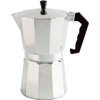 Quid Cafetera, Acero Inoxidable, Aluminio, 3 Tazas: Amazon.es: Hogar