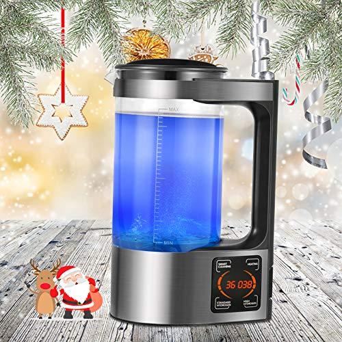 InLoveArts Générateur d'eau d'hydrogène, Bouteille d'eau riche en hydrogène de 2 L, Générateur portatif d'ions d'eau, Affichage à LED de contrôle tactile numérique, Purificateur pour toute la famille