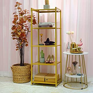 Gold Clothing Rack for Boutique Use 5 -Tier Garment Rack Modern Metal Display Rack for Shoes, Handbag,Garment Accessories