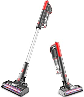 Cordless Vacuum, 14000pa Stick Vacuum 4 in 1, Motorized Brush & Ultra-Light Ideal for Whole House Cleaning GeeMo K14 (Rene...