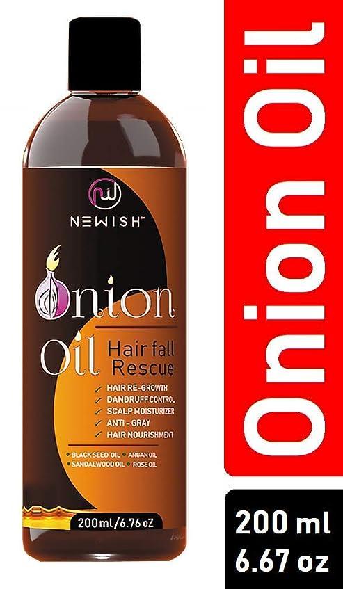 簿記係バン殺すNewish Red Onion Oil for Hair Regrowth Men and Women, 200ml