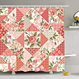Ahawoso Shower Curtain Set with Hooks 60x72 Brunch Elements Plant Multicolor Pattern Roses Butterflies...