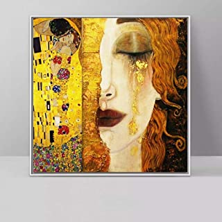 Canvas Painting Decorative Paintings Kiss and Tears by Canvas Paintings Wall Art Pictures for Living Room Decoration (Size...