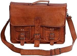 Leather Bag For Men & Women 15 inch from iHandikart, Office Laptop Leather Unisex Messenger Bag 15x11 (ihk1017)